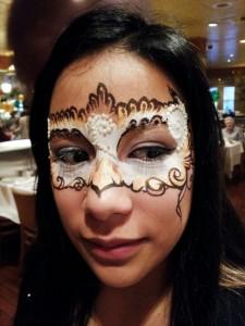 Whitegold mask