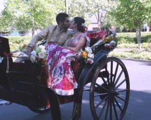 carriage ride baraat