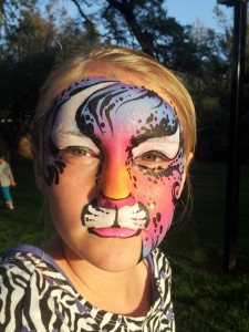 face paint girl tiger